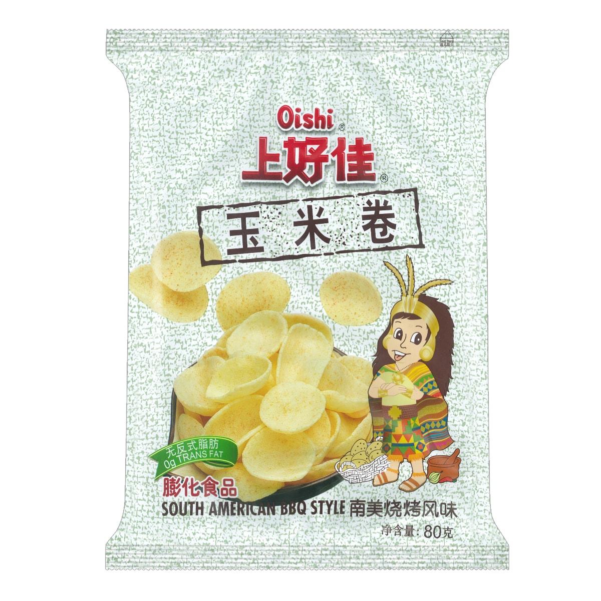 OISHI上好佳 玉米卷 南美烧烤风味 80g
