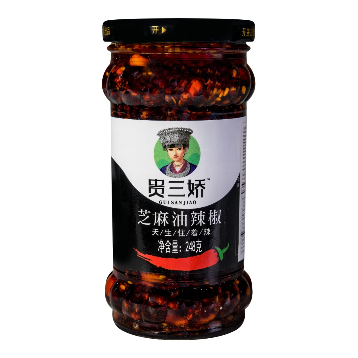 GUI SAN JIAO Chili Sauce with Sesame 248g