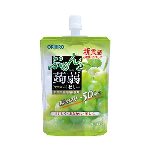 日本ORIHIRO 低卡纤体蒟蒻果冻 青葡萄味 130g