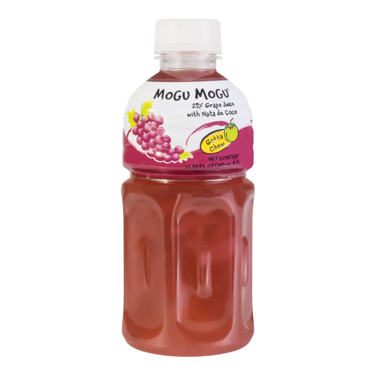 MOGU MOGU Grape Flavored Drink With Nata De COCO 320ml