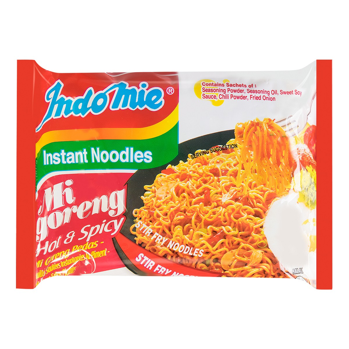 INDOMIE Mi Goreng Fried Noodles Pedas Hot Spicy Flavor 80g