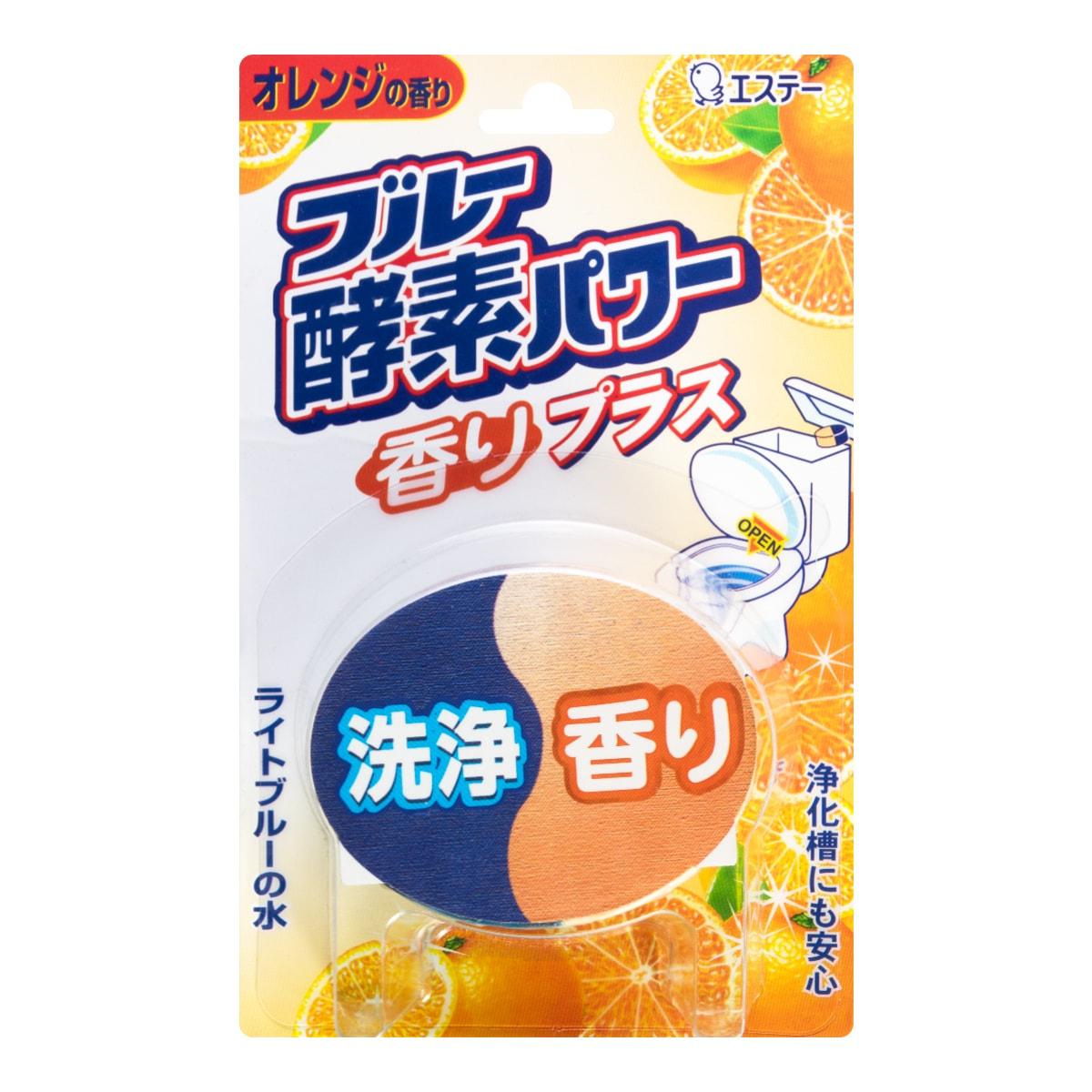 日本ST鸡仔牌 酵素消臭芳香洁厕剂 120g #香甜橙子
