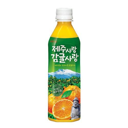 韩国LOTTE乐天 济州岛柑橘粒粒果汁饮料 500ml