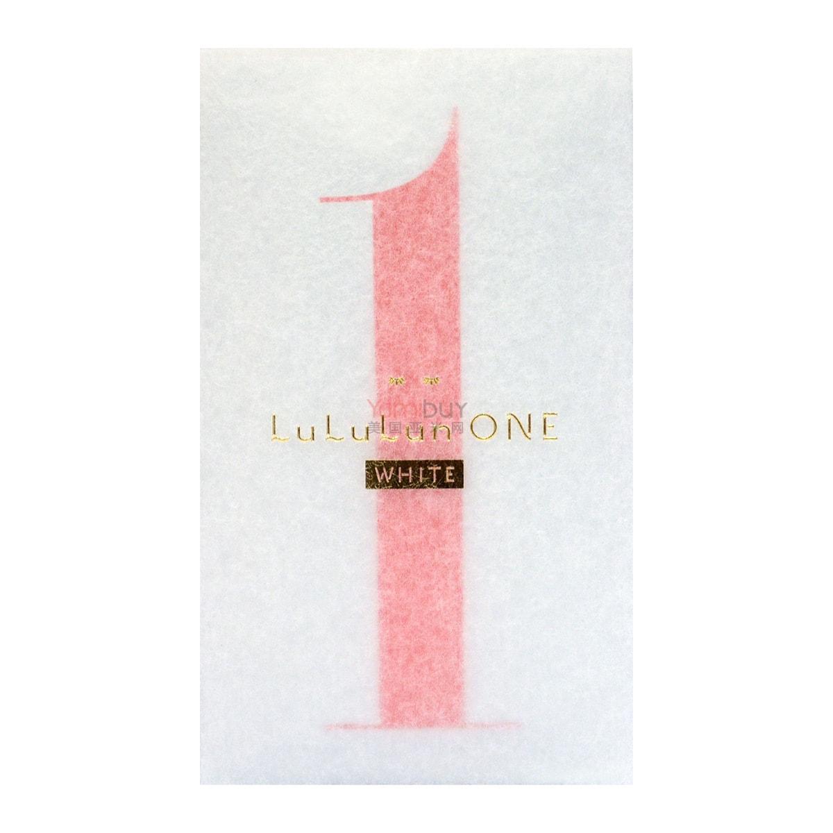 日本LULULUN ONE WHITE 美白面膜 限量版 5片入