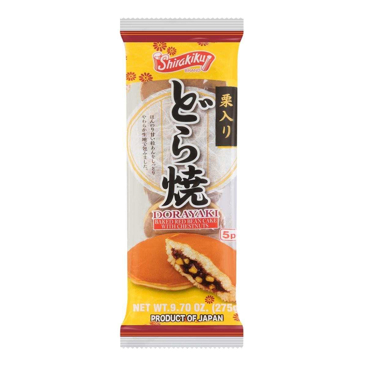 日本SHIRAKIKU赞岐屋 传统铜锣烧 红豆栗子味 5枚入