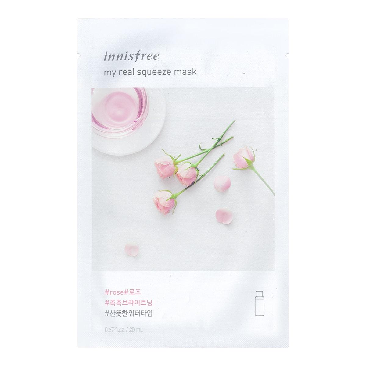 韩国INNISFREE悦诗风吟 悦享鲜萃蔷薇面膜 单片入