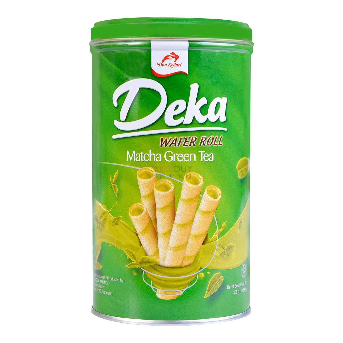 DUA KELINCI Deka Matcha Green Tea Wafer Roll 300g