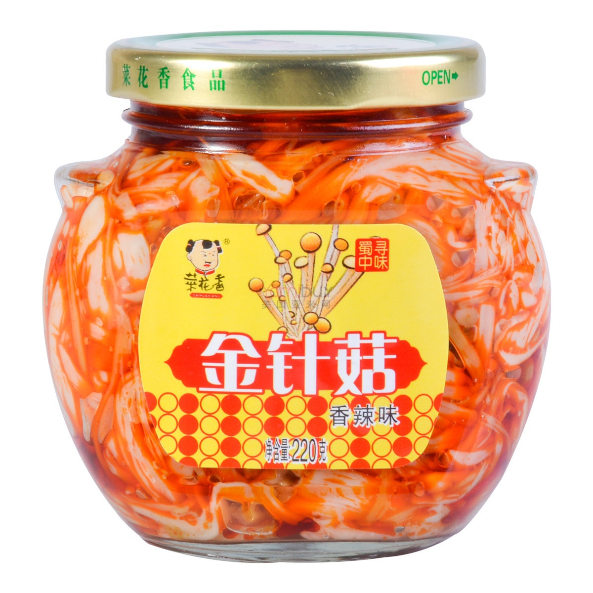 CAIHUAXIANG Pickled Mushroom in Chili Oil 220g