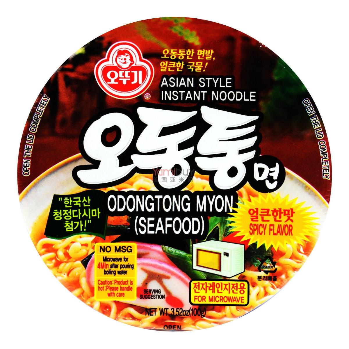 韩国OTTOGI不倒翁 海鲜乌冬汤味拉面 辣味 碗面 100g