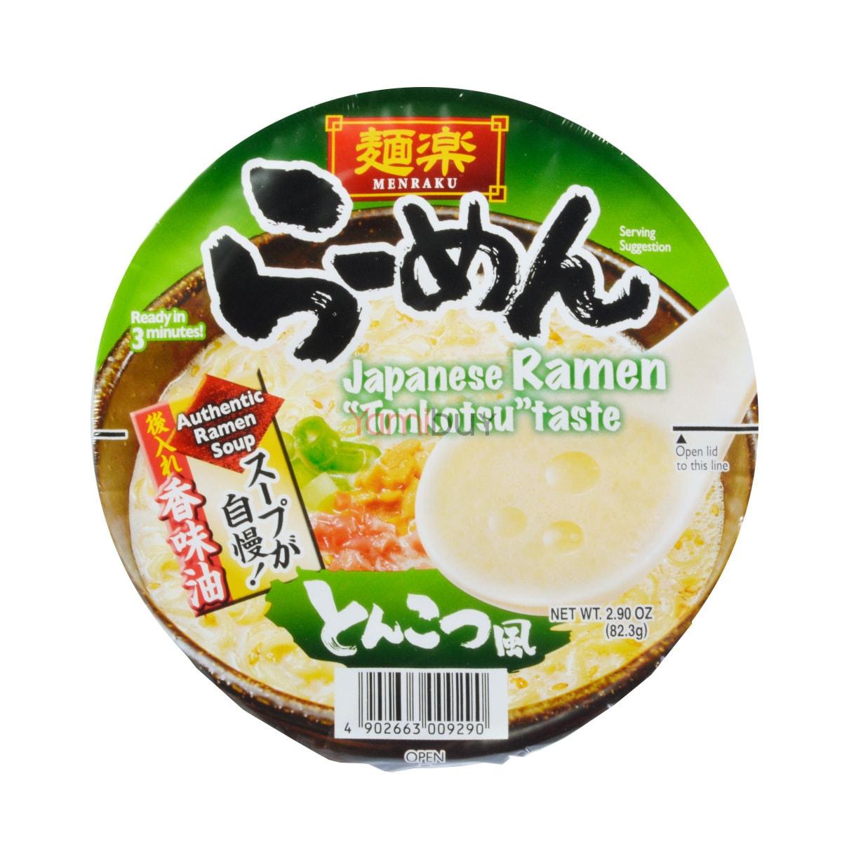 日本MENRAKU面乐 速食拉面 香浓豚骨口味 碗装 82g