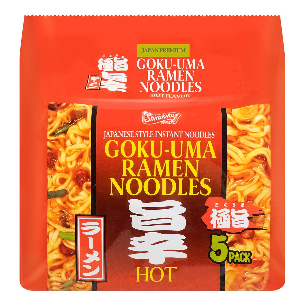 日本GOKUUMA 方便拉面 辣味 5包入 475g