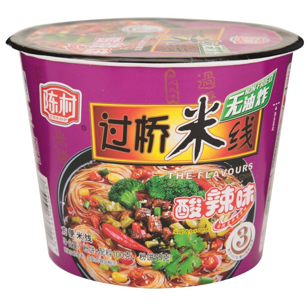 陈村 非油炸方便过桥米线 桶装 酸辣味 175g
