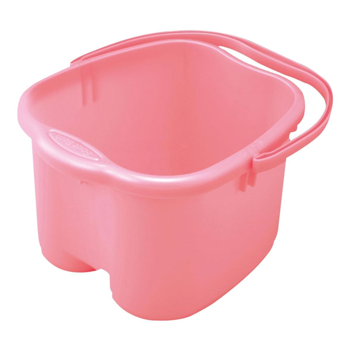 日本INOMATA 手提泡脚足浴桶 #粉红色 1件入