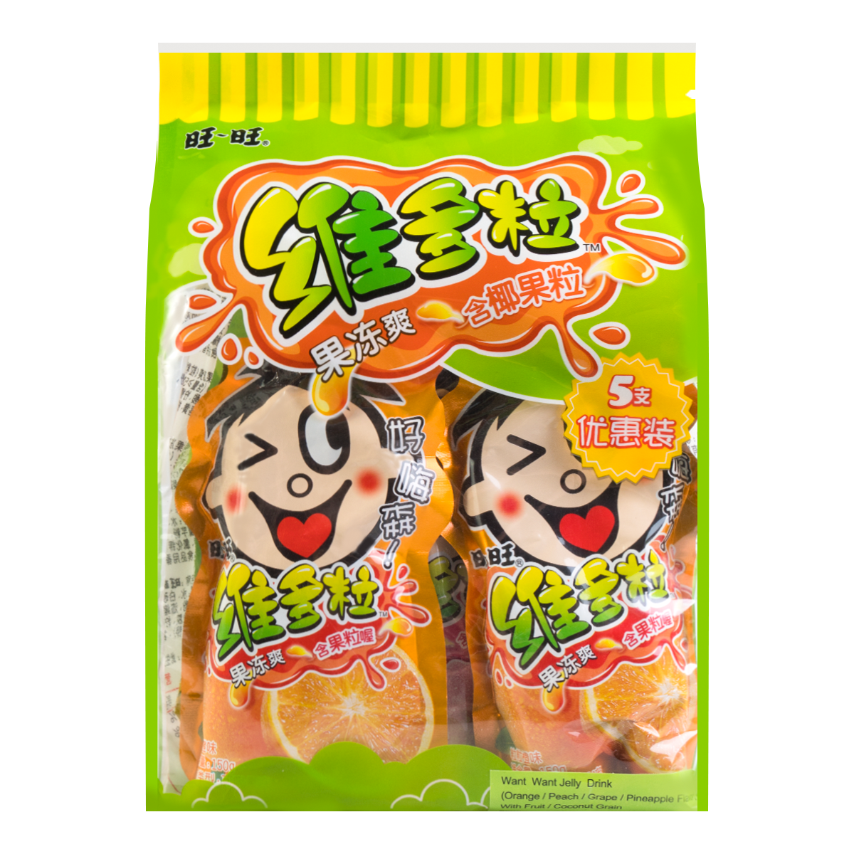 WANT WANT Jelly Drink Mixed Flavor 150g