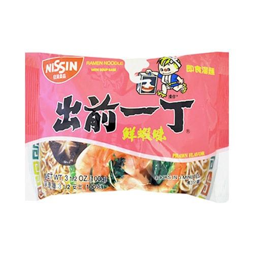 日本NISSIN日清 出前一丁 即食汤面 鲜虾味 100g
