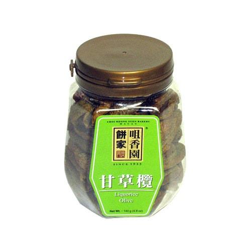 澳门咀香园 传统蜜饯润喉清火甘草榄 140g