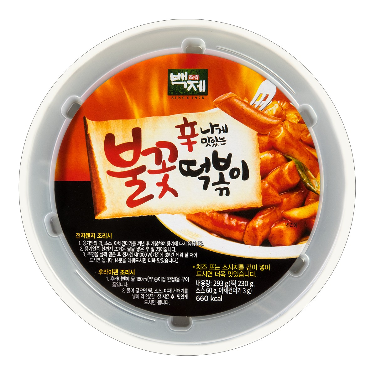 Baekje Rice Cake Bowl w/Spicy Sauce 293g