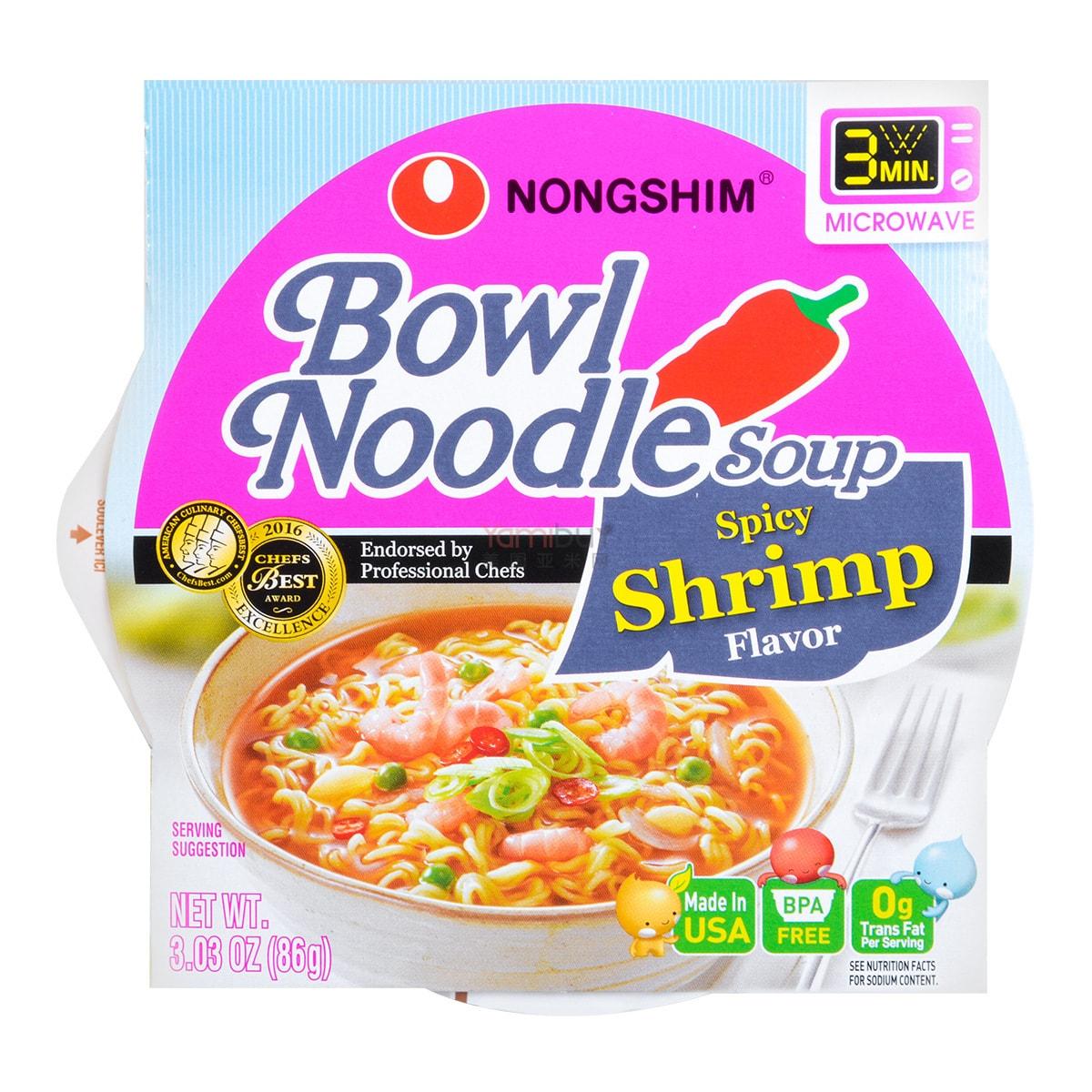 韩国NONGSHIM农心 可微波碗面鲜辣虾味 86g