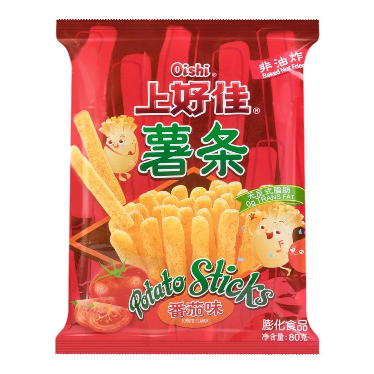 OISHI上好佳 非油炸 番茄味薯条 80g 无反式脂肪