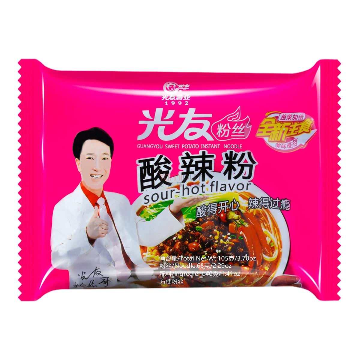 GUANGYOU Sweet Potato Instant Noodle Sour  Hot 105g