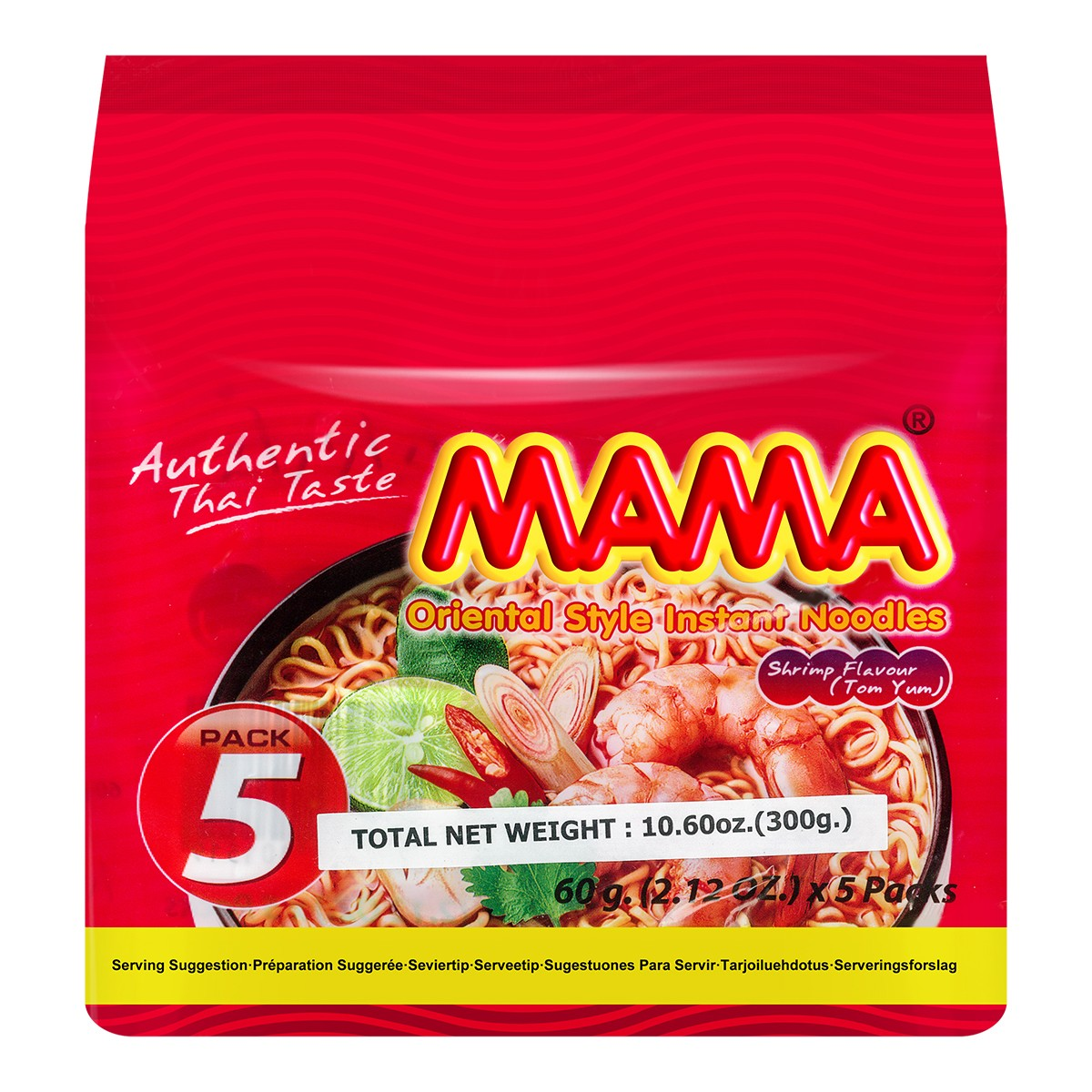 MAMA INS Noodle Shrimp Tom Yum Flaor 5Pack 300g