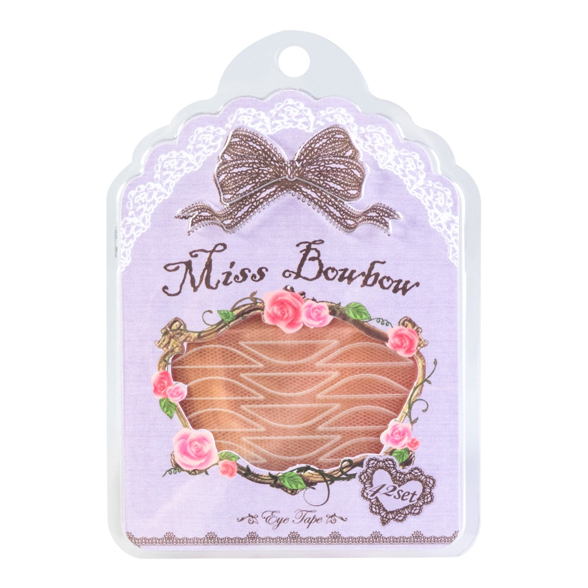 MISS BOWBOW Purple Double Eyelid Tape with White Glue 42 Pieces