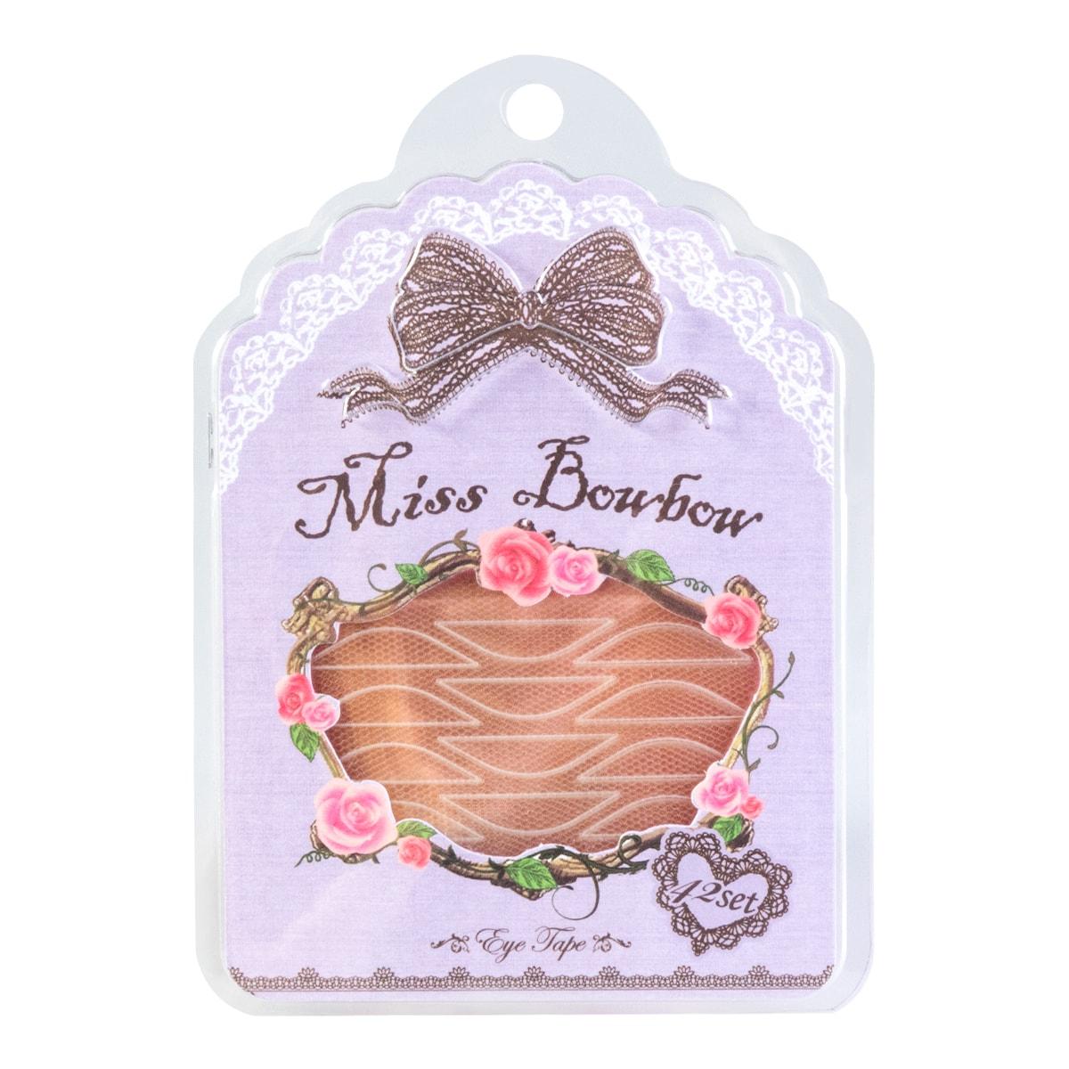 台湾MISS BOWBOW拨拨小姐 超隐形无痕网纱双眼皮贴 温和版 内附胶水+小夹子 42回入
