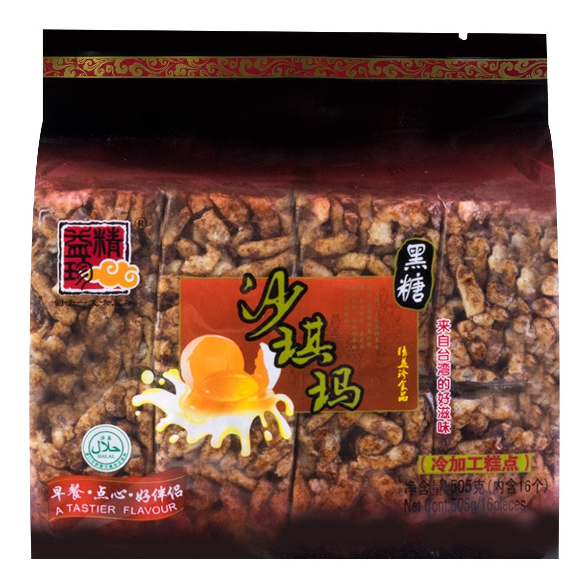 精益珍 沙琪玛 黑糖味 16枚入 505g