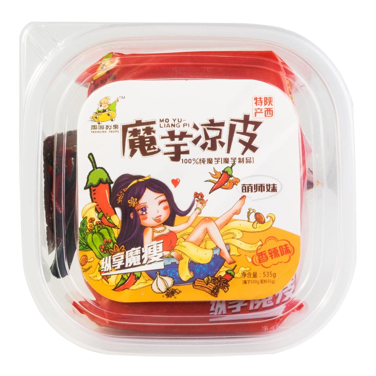 周游列果 魔芋凉皮 香辣味(盒) 535g 陕西特产