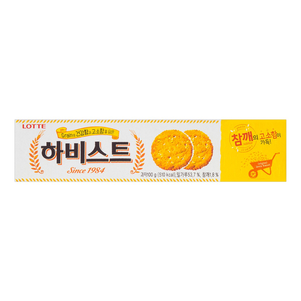 韩国LOTTE乐天 薄脆鸡蛋饼干 100g