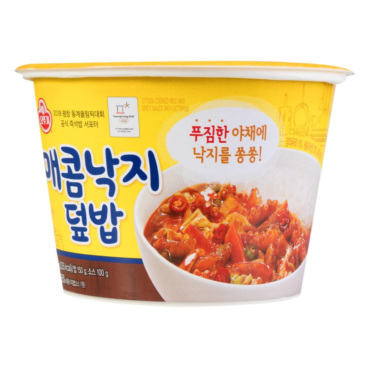 韩国OTTOGI不倒翁 韩式章鱼拌饭 杯装 250g