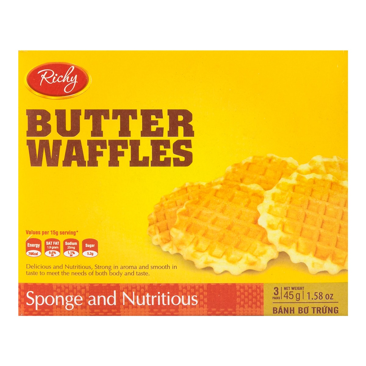 CROWN Butter Waffles 45g