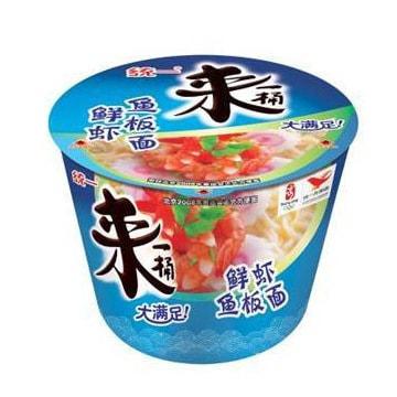 台湾统一 来一桶 鲜虾鱼板面 108g