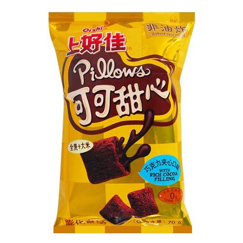 OISHI上好佳 可可甜心 巧克力夹心口味 非油炸膨化食品无反式脂肪 70g