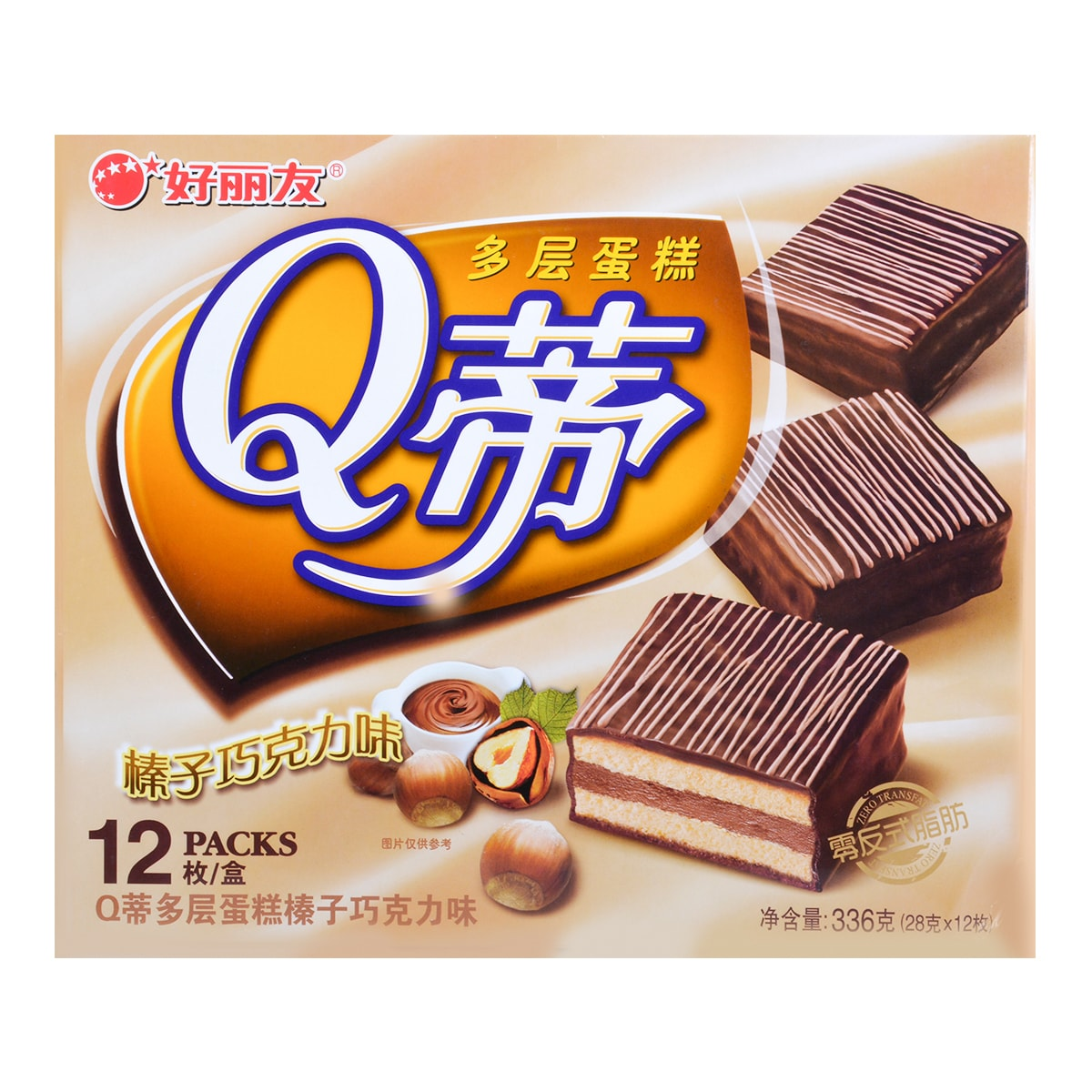 ORION Hazelnut Chocolate Cake 12pc 336g