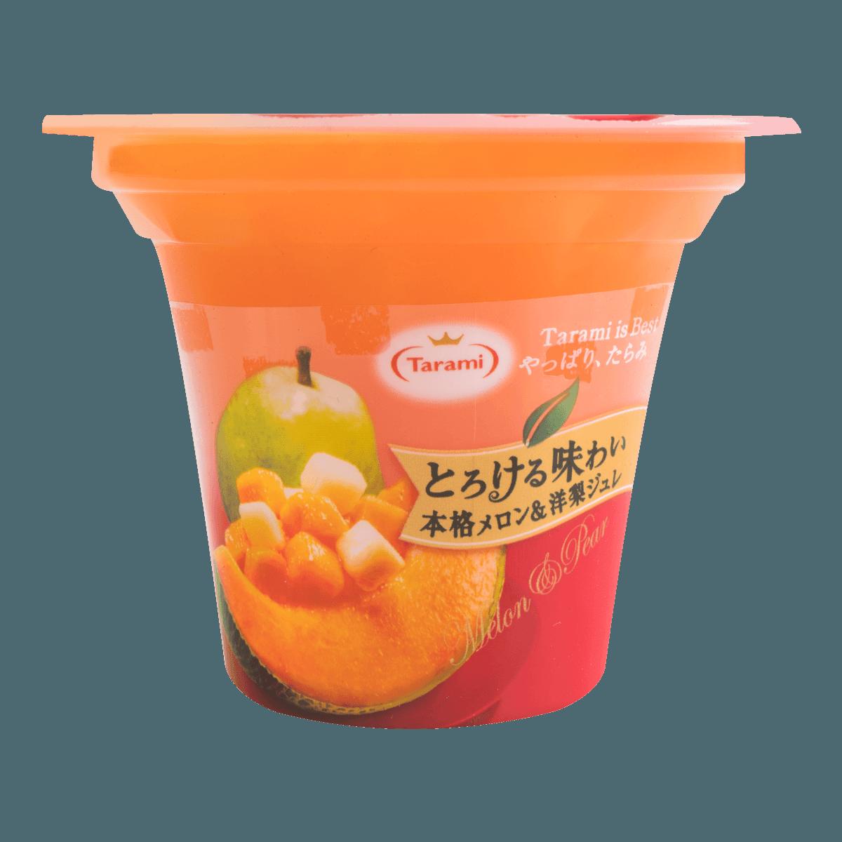 日本TARAMI 味系列 甜瓜洋梨果肉果冻 210g