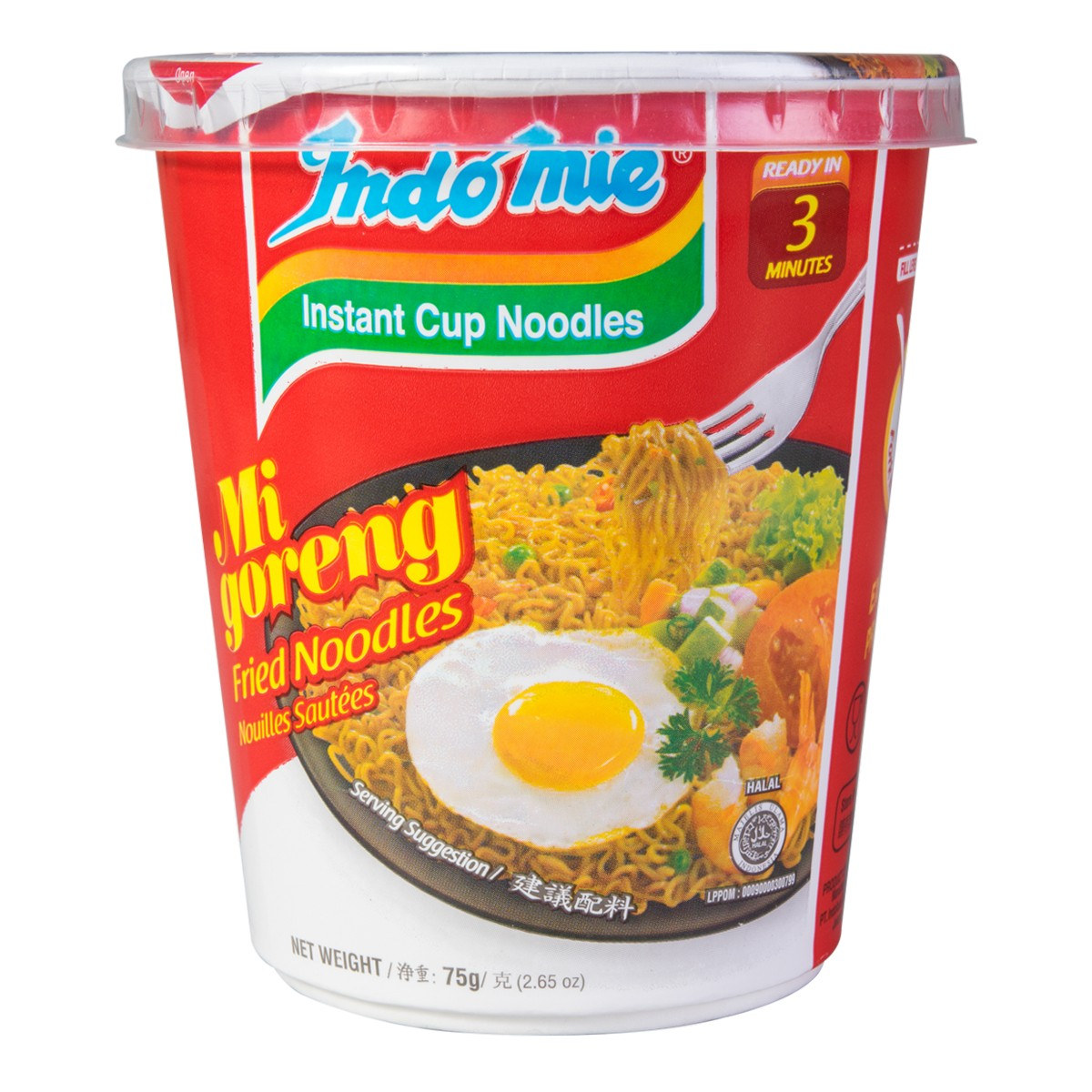 印尼营多 原味干捞面 杯装 75g