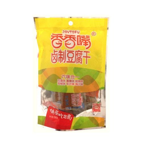 香香嘴 卤制豆干 六合一综合量贩装 206g 四川特色零食