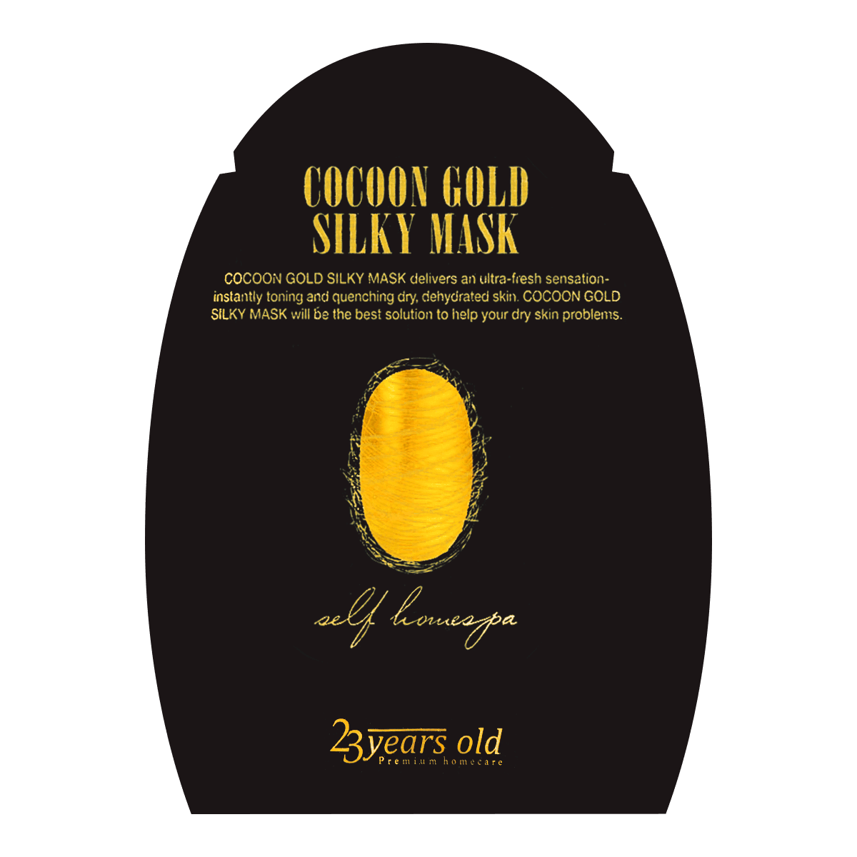 23 YEARS OLD Cocoon Gold Silky Mask 1sheet