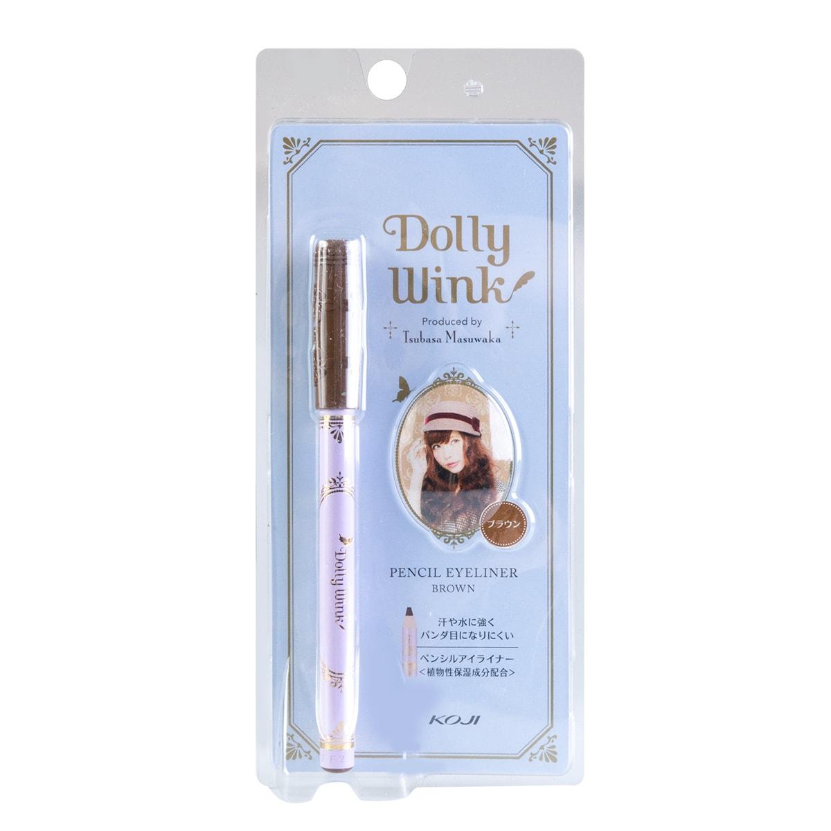 日本KOJI蔻吉 DOLLY WINK 防水防晕染眼线笔 #深棕色 单支入
