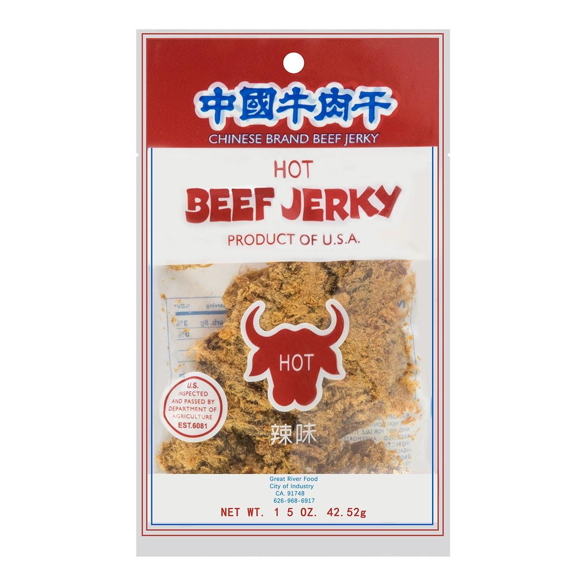中国牛肉干 辣味 42.52g 原产地美国