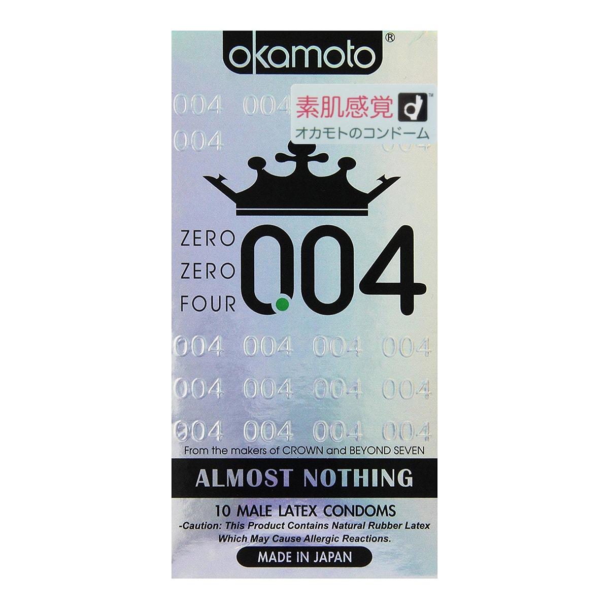 日本OKAMOTO冈本 004系列 安全避孕套 10个装