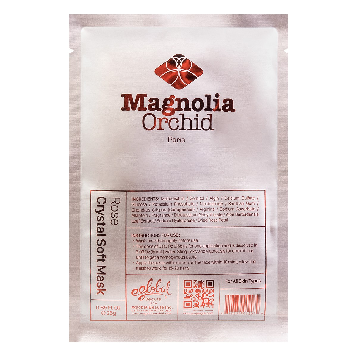 MAGNOLIA ORCHID rose crystal soft mask 25g