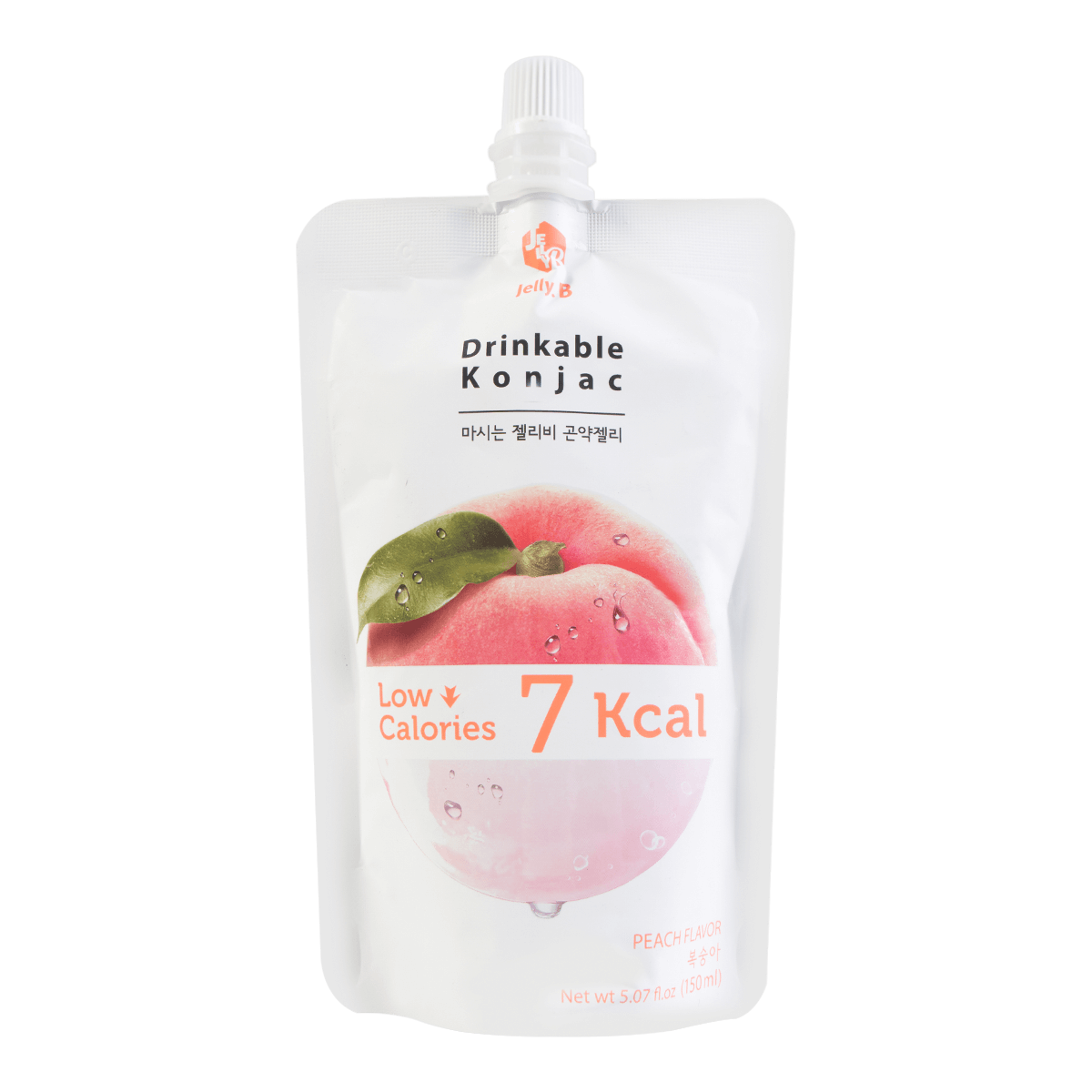 韩国JELLY.B 低糖低卡蒟蒻果冻  水蜜桃味 150ml