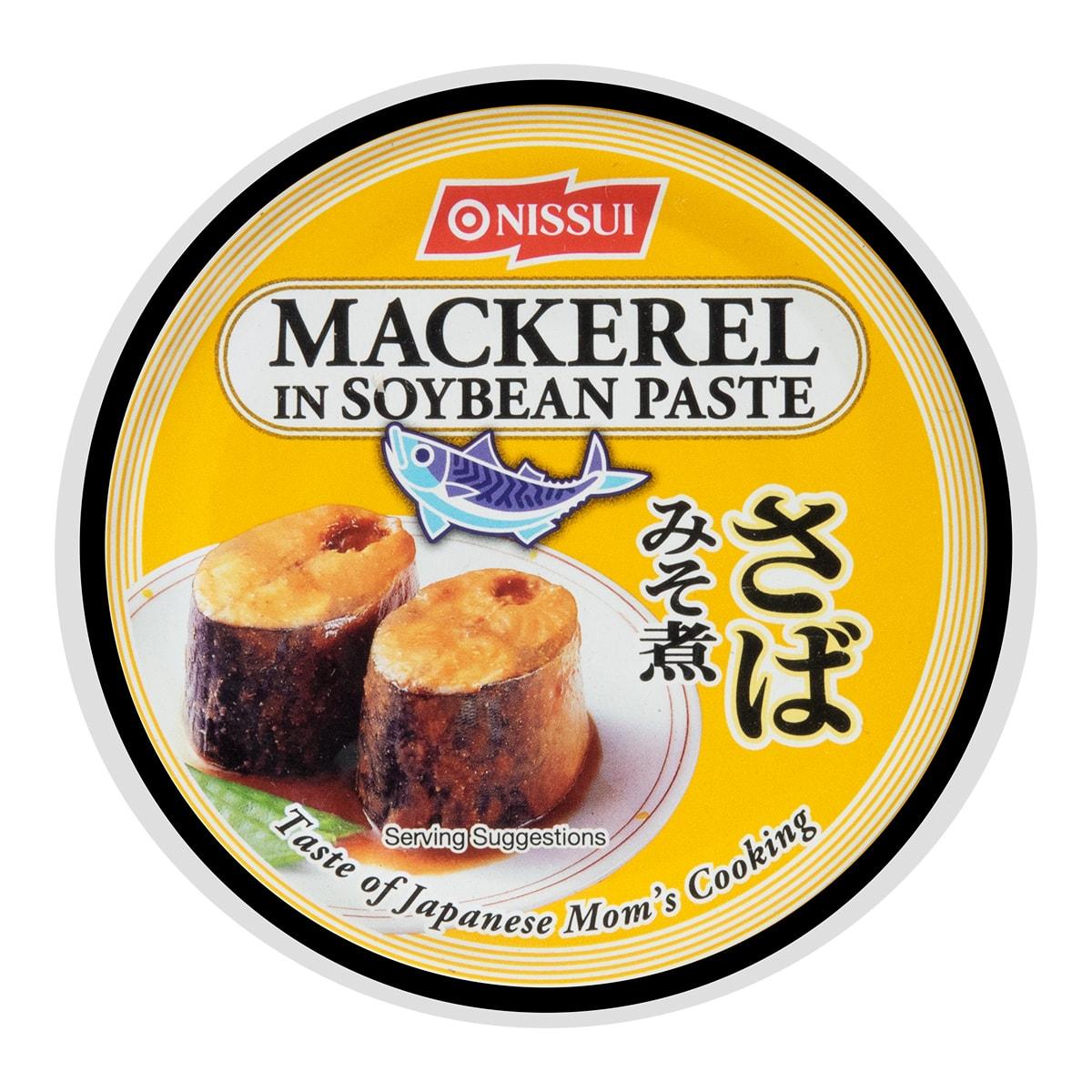 日本NISSUI 鲭鱼罐头 味噌调味 190g
