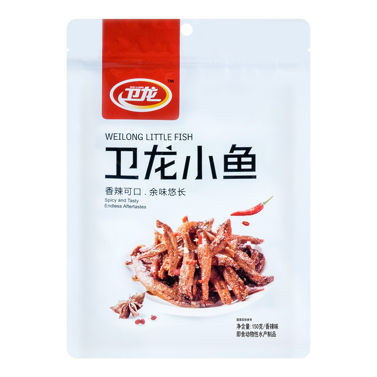 WEILONG Spicy Fish Spicy Snacks In Hunan 150g