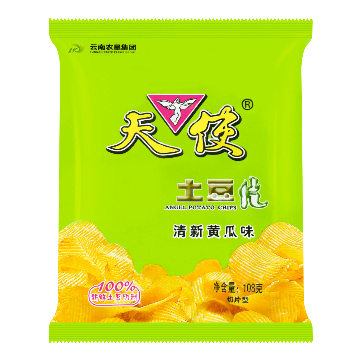 ANGEL Potato Chips-Fresh Cucumber Flavor 108g