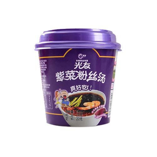 光友 方便紫薯粉丝 紫菜粉丝汤 桶装 45g