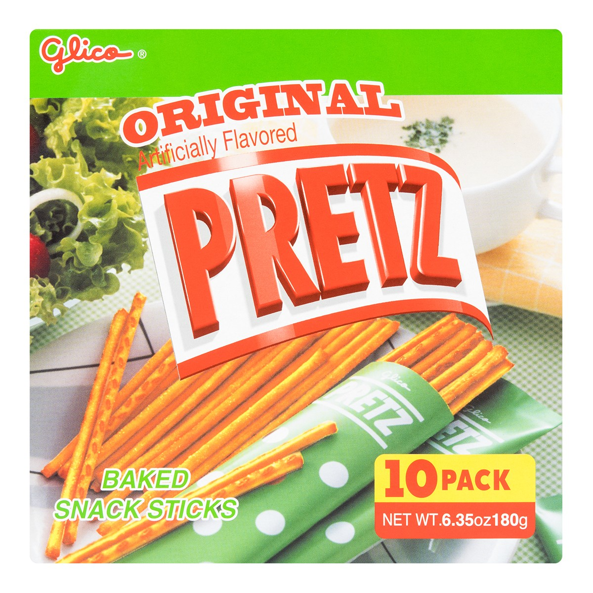 GLICO PRETZ Baked Snack Sticks Original Flavor 10pcs