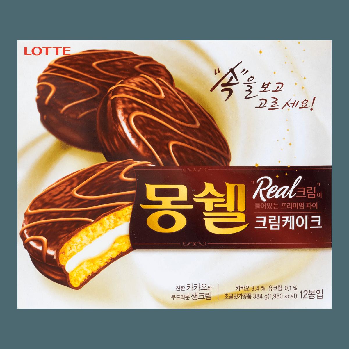 韩国LOTTE乐天 梦雪奶油蛋糕派 384g